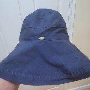 SCALA wide brim  sun hat dark blue upf+50
